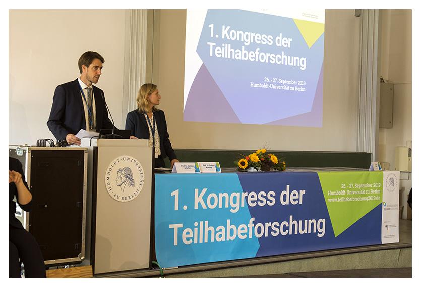 Markus Schäfers und Gudrun Wansing eröffnen den 1. Kongress der Teilhabeforschung